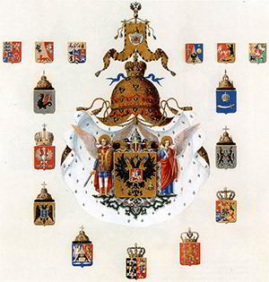 Рисунок Большого герба Российской империи образца апрель 1857 года.